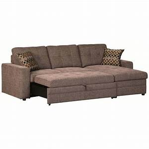 Gus sectional sofa with pull out bed for Sectional sofa pullout bed