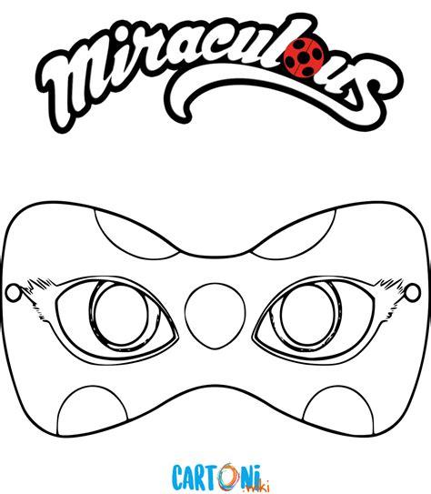 colora la maschera  ladybug cartoni animati