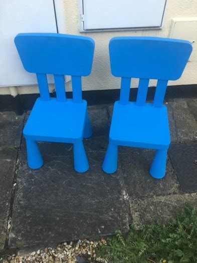 Ikea Mammut Stuhl by Ikea Mammut Chair Pair In Blue For Sale In Booterstown