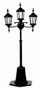 3 lamp Yard / Street Light non-working EIWF510 dollhouse