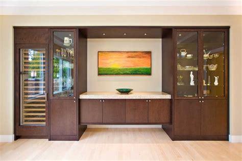 dining room  sideboard built   wine cooler