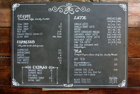 Coffee shop digital menu boards will help you experience a boost in sales, while radically enhancing brand recognition. Chalkboard coffee shop menu for POUR coffeehouse in Kansas. One of a set of three. | Coffee shop ...