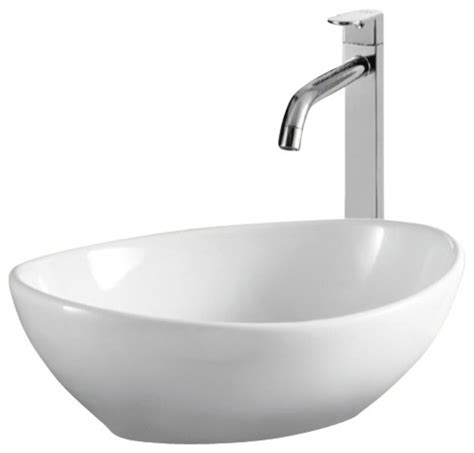 white oval vessel sink oval white ceramic vessel bathroom sink no hole