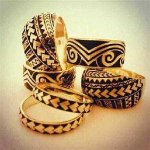 Samoan designed wedding rings might have to get one of for Samoan tribal wedding rings