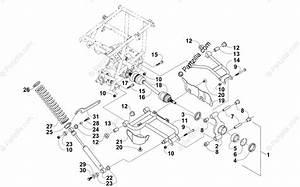 Arctic Cat Atv 2004 Oem Parts Diagram For Rear Suspension