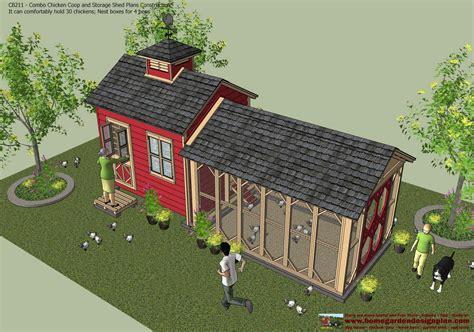home garden plans cb combo chicken coop garden shed
