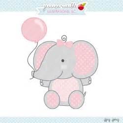 Girl Baby Shower Elephant Clip Art