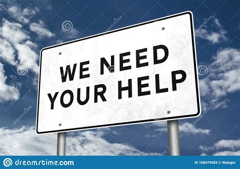 We Need Your Help - Road Sign Illustration Stock ...