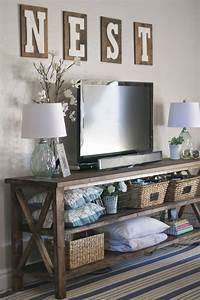best 25 decorate around tv ideas on pinterest With best brand of paint for kitchen cabinets with farmhouse decor wall art