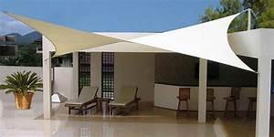 Voile Pour Terrasse : voile d ombrage carr e ecru ~ Premium-room.com Idées de Décoration