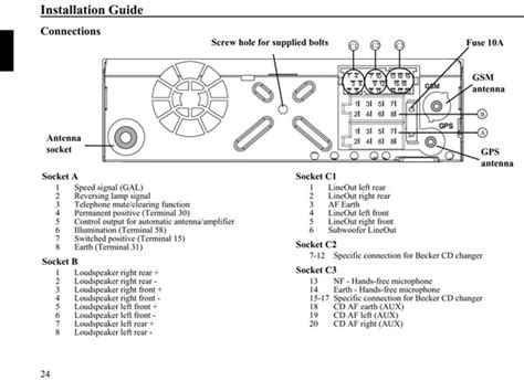Vaquero Unit Wiring Diagram by распиновка штекера Cd Changer Becker Silverstone 7860