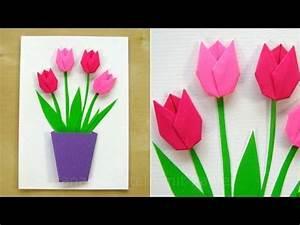 Basteln Mit Papier Anleitung : basteln mit papier blumen selber machen diy geschenke basteln tulpen basteln ~ Frokenaadalensverden.com Haus und Dekorationen
