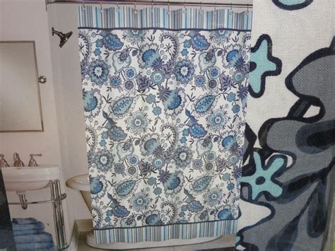 New Peri Fabric Floral Shower Curtain Henley