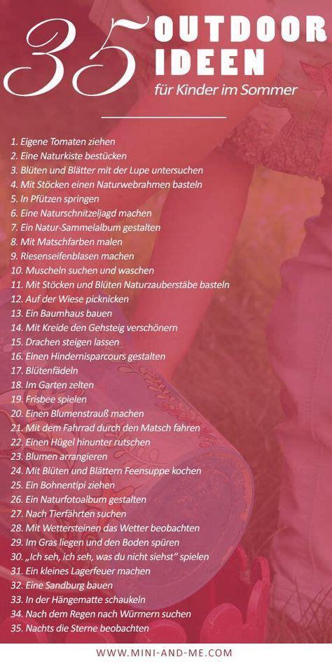 Frische Luft Fuer Gesundheit Und Wohlbefinden by Keine Angst Vor Schmutz 35 Spannende Outdoor Ideen F 252 R