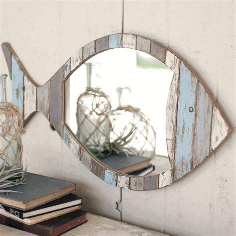 nautical mirrors driftwood fish mirrorbella coastal