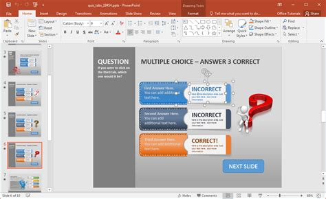 Powerpoint Questions And Answers Template by Create A Quiz In Powerpoint With Quiz Tabs Powerpoint Template