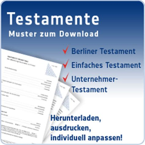 berliner testament vordruck berliner testament