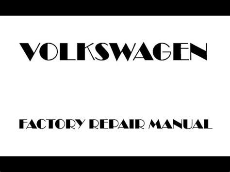 volkswagen passat      repair manual