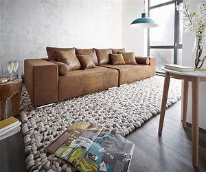 Big Sofa Microfaser : big sofa marbeya 285x115 cm braun mit hocker antik optik m bel sofas big sofas ~ Indierocktalk.com Haus und Dekorationen