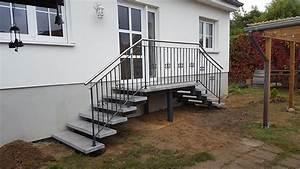 aussentreppe mit podest treppen fur eingang baustoffe With französischer balkon mit garten kaufen berlin spandau