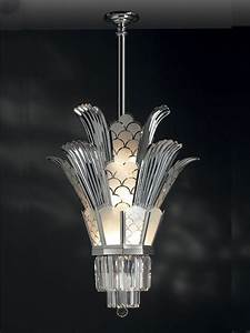 Art deco chandelier on lighting