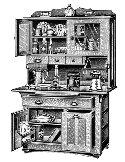 free kitchen cabinets vintage kitchen cabinet clipart 1063