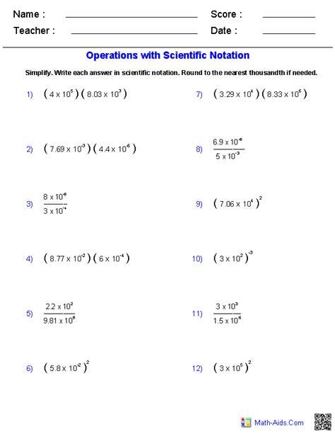 operations  scientific notation math aidscom