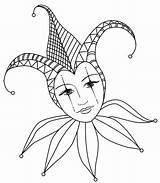 Lady Jester Coloring Pages Court Gras Mardi Mask Drawing Adult Tattoo Drawings Colouring Flickr Joker Carnaval Jes Tattoos Carnival Mascaras sketch template
