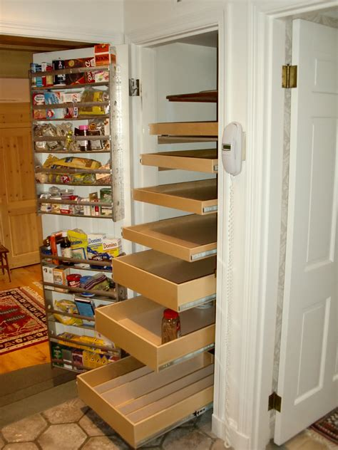 Narrow Kitchen Pantry Shelving Unit With Door Mounted