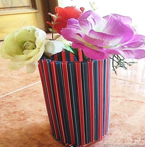 eltelu contoh  membuat benda kerajinan vas bunga