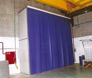Porte Anti Bruit : acoustique industrielle rideau phonique anti bruit ~ Premium-room.com Idées de Décoration