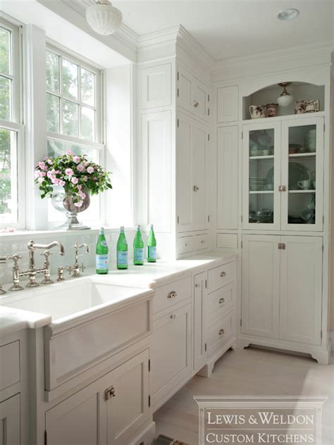 Built In China Cabinet   Traditional   kitchen   Lewis and