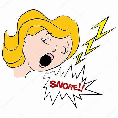 Snoring Cartoon Woman Loudly Sleep Apnea Clip