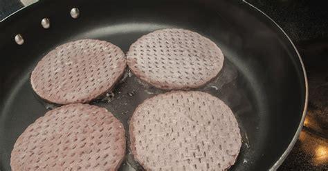 cook frozen beef patties   frying pan