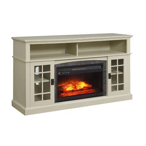 media fireplace tv stand tvs    black white