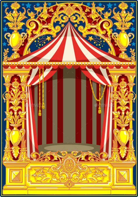 ftestickers background carnival circus vintage deffect