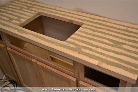Diy Butcherblockstyle Countertop With Undermount Sink