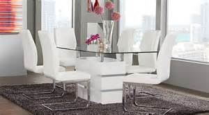 white dining room set tria white 5 pc rectangle dining room dining room sets white