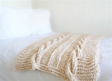 how to knit large blanket endless cables knit throw allfreeknitting com