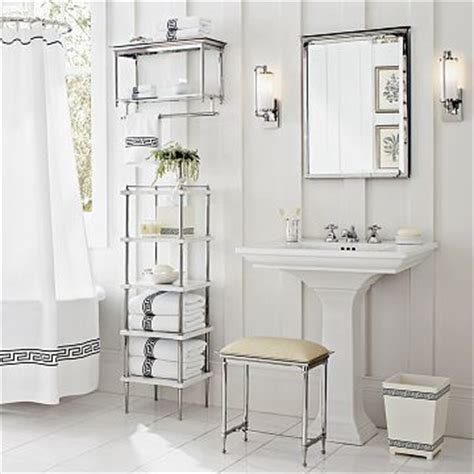 Chrome Bathroom Etagere by White Pedestal Sink Design Ideas