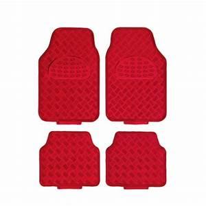 tapis de sol voiture caoutchouc alu rouge With tapis de sol personnalisé voiture