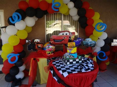 cars theme party decoration birthday ideas  bray