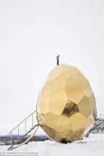 Solar Egg In Kiruna by Sweden S Glittering Solar Egg Sauna Has Hatched Daily