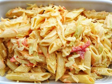 salade de penne au chou blanc la tendresse en cuisine