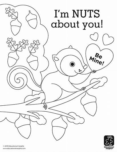 Coloring Nuts Pages Printable Camouflage Valentine Squirrel