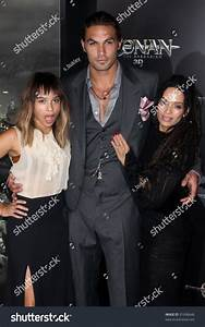 "Zoe Kravitz, Jason Momoa, Lisa Bonet At The ""Conan The ..."