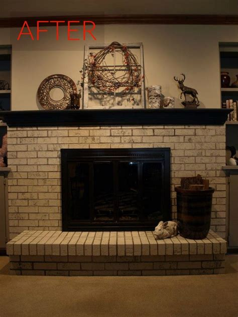 Fireplace Paint - 10 gorgeous ways to transform a brick fireplace without