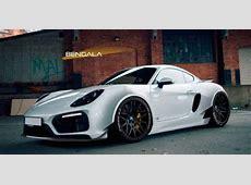 Bengala Porsche Cayman mit WideBody Kit Rendering