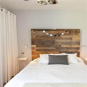 40 recycled diy pallet headboard ideas 99 pallets With what kind of paint to use on kitchen cabinets for jeweled cross wall art