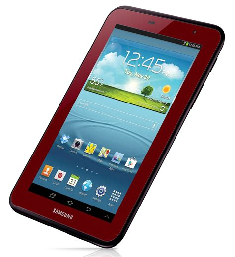 samsung galaxy tab 7 0 in garnet for s day